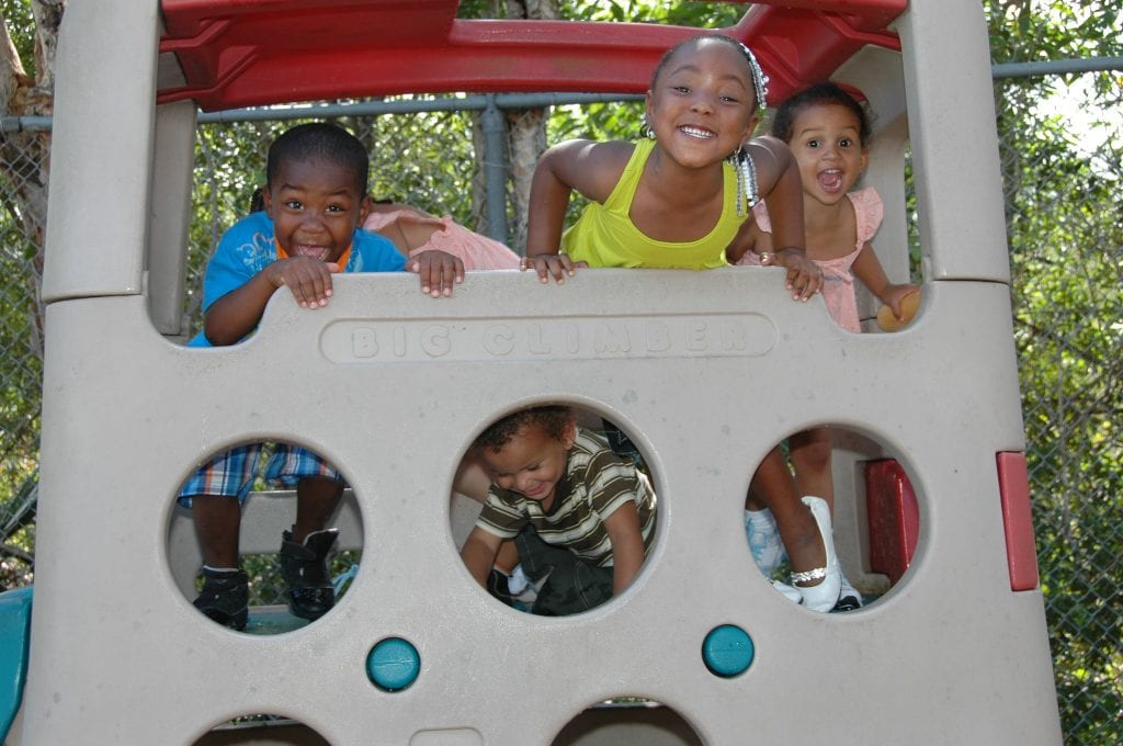 Child Care of Southwest Florida-Children on Playground