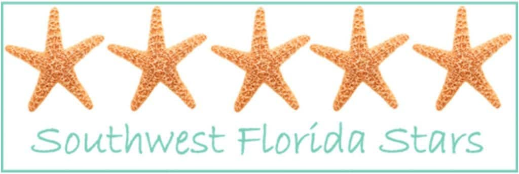 5-star rating logo featuring five starfish with the words Southwest Florida Starts