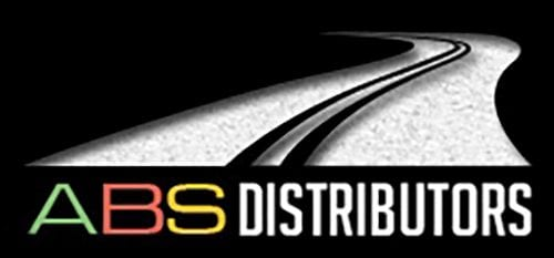 ABS Distributors logo featuring white winding road on black background