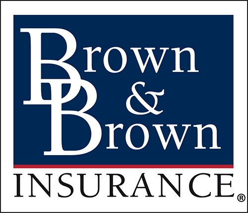 Blue and white Brown & Brown Insurance
