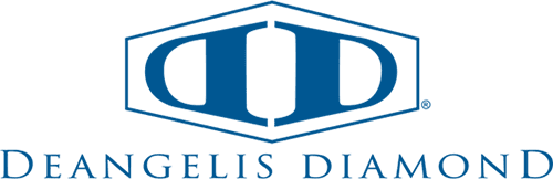 Blue Deangelis Diamond Construction logo on transparent