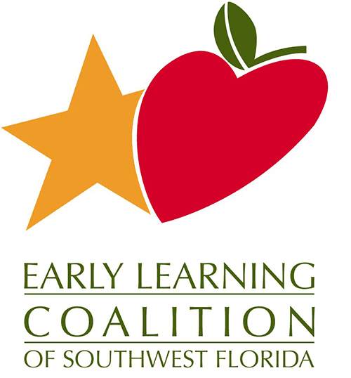 Early Learning Coalition of Southwest Florida logo with yellow star and heart shaped apple