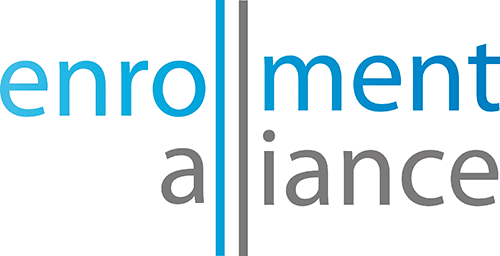 Enrollment Alliance logo in blue and grey