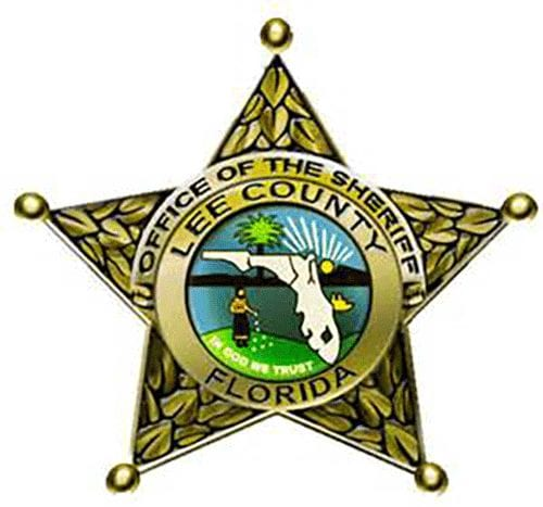 Lee County Sheriff's Office logo in the shape of a five-pointed star badge