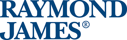 Raymond James logo in navy blue