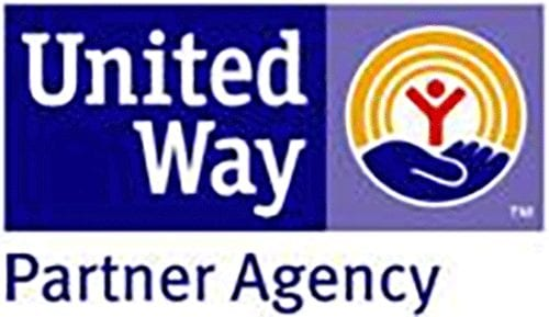 Blue and yellow United Way Partner Agency logo