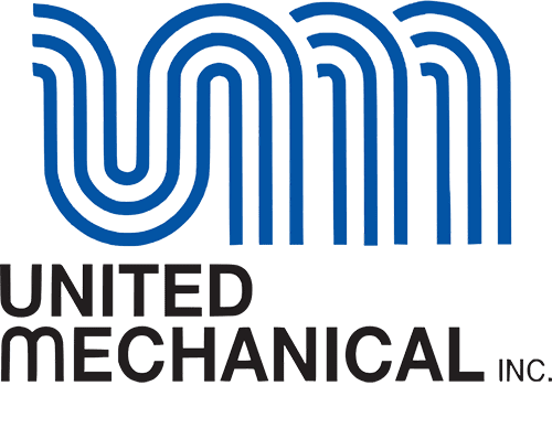 United Mechanical logo in blue and black