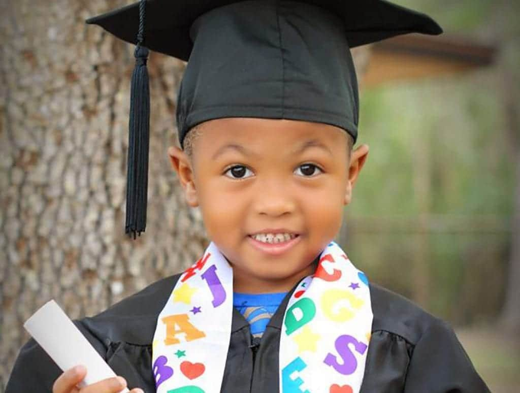 This proud young graduate knows that Child Care of Southwest Florida has his best interests at heart.