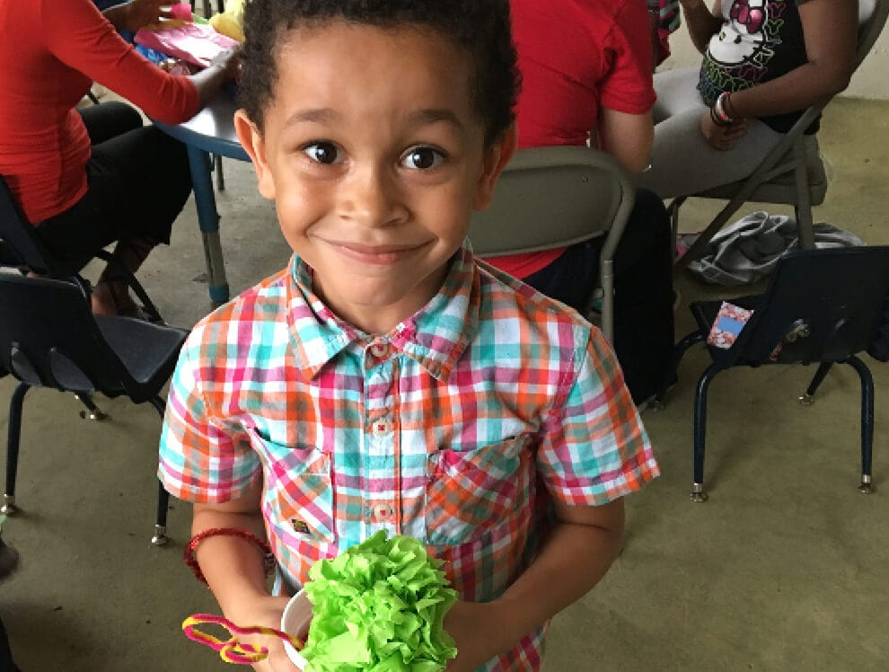 This young boy participates in play-based Creative Curriculum at Child Care of Southwest Florida.