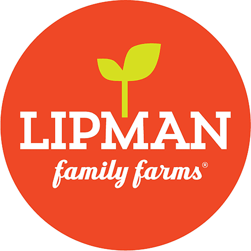 Red, green and white Lipman Family Farms logo