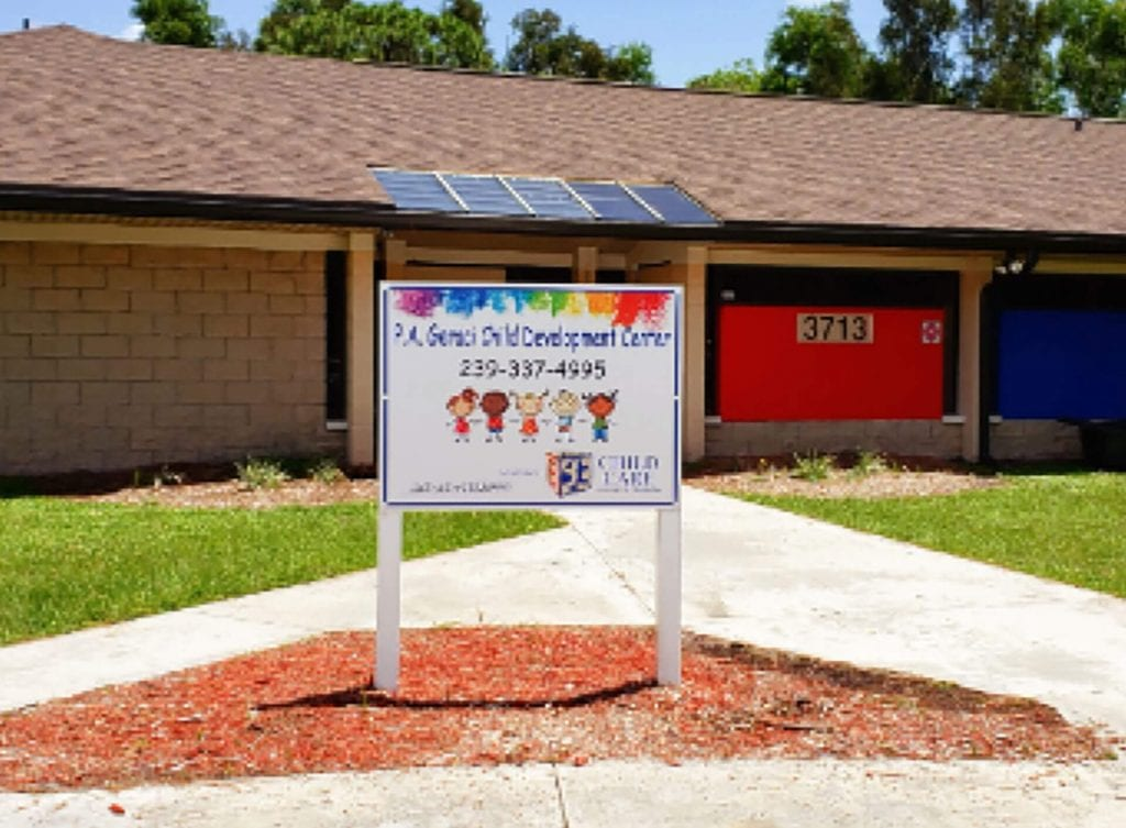One of Child Care of Southwest Florida's five affordable early childhood education centers, the P.A. Geraci Child Development Center is located at 3713 Canal Street in Fort Myers at 33916.