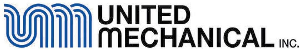 United Mechanical, Inc. logo in blue and black